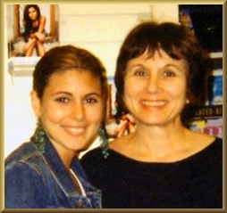 Jamie-Lynn Sigler, Sopranos Star, and Joanna Poppink, L.M.F.T.   psychotherapist specializing in eating disorder treatment, together in Los Angeles, August 14, 2002 celebrating the launching of the new book by Jamie-Lynn.